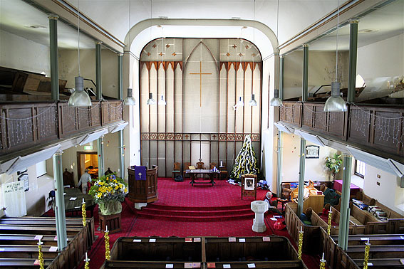 Interior of Scots Church Hobart