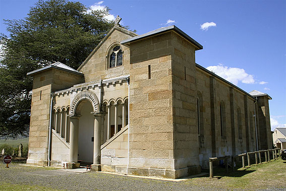 St Mark's Anglican Church, Pontville : exterior [photo: Trevor Bunning (2009)]
